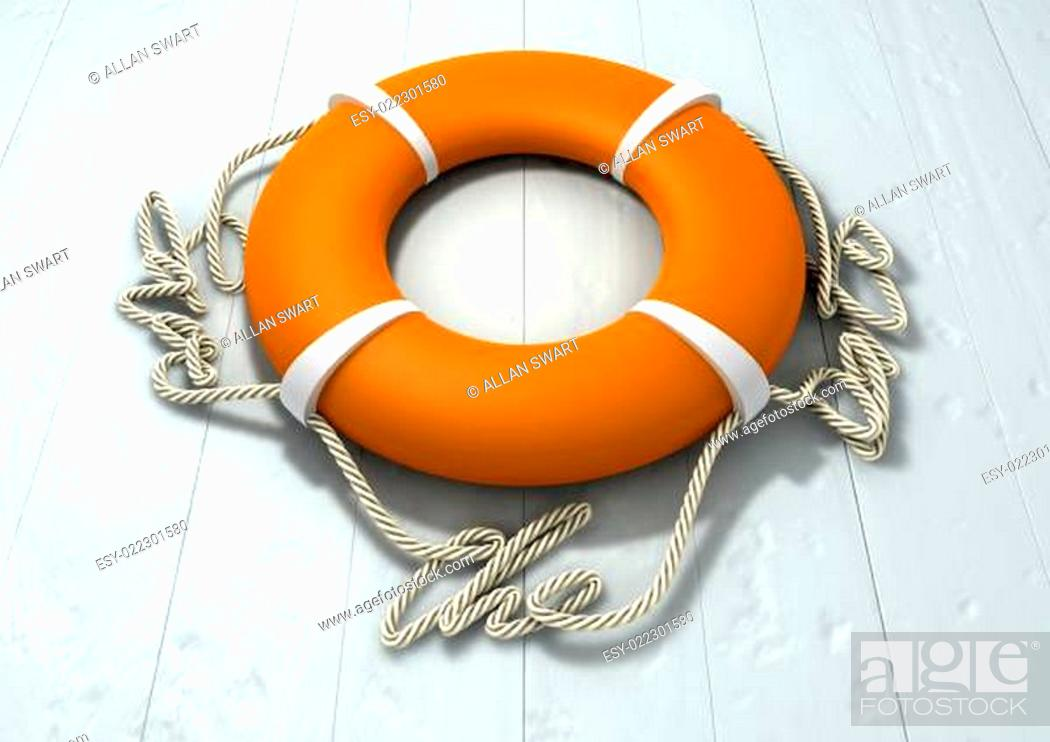 Stock Photo: Save The Date Lifebuoy.