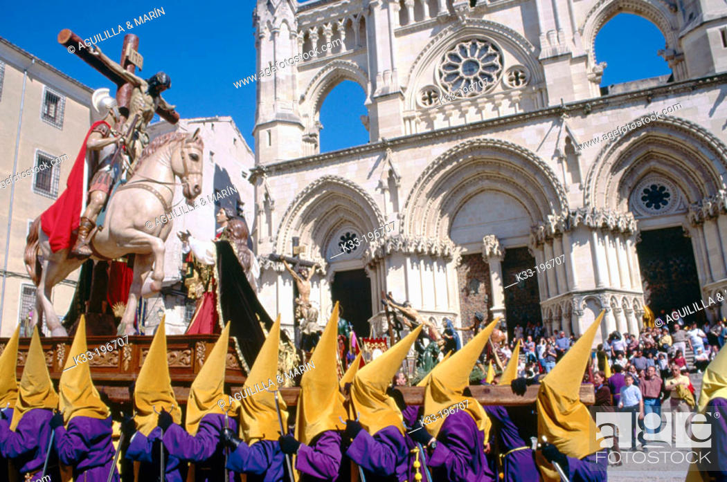Stock Photo: Holy Week. Cuenca. Spain.