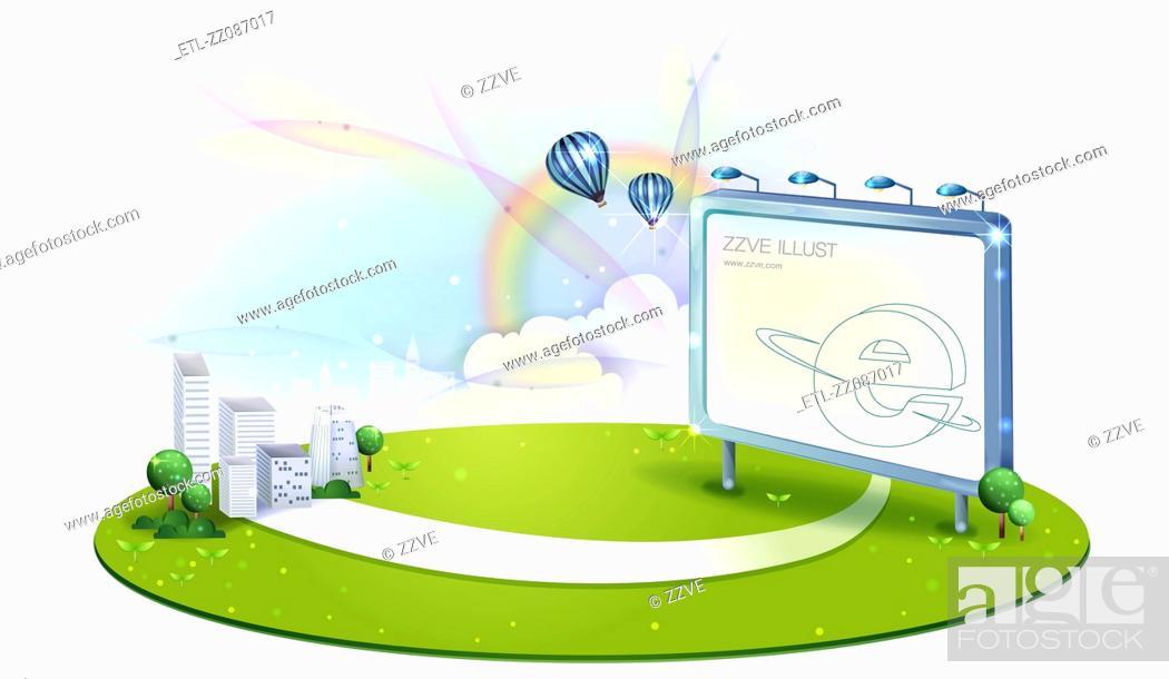 Stock Photo: Internet Explorer sign on billboard.