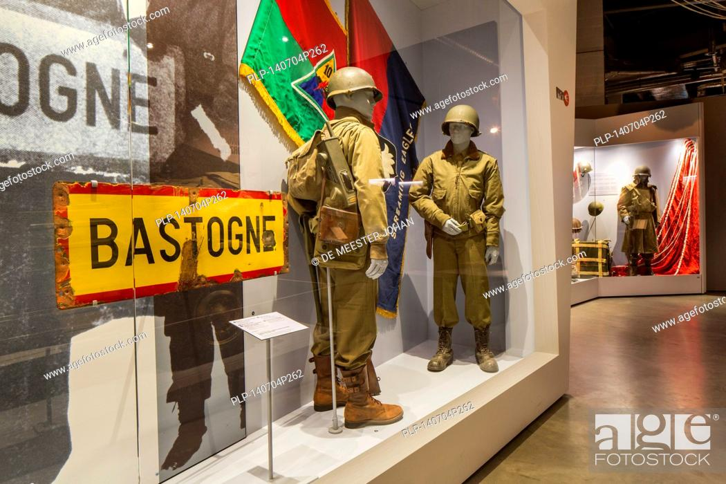 Stock Photo: The Bastogne War Museum devoted to the Second World War Two in the Belgian Ardennes, Belgium.
