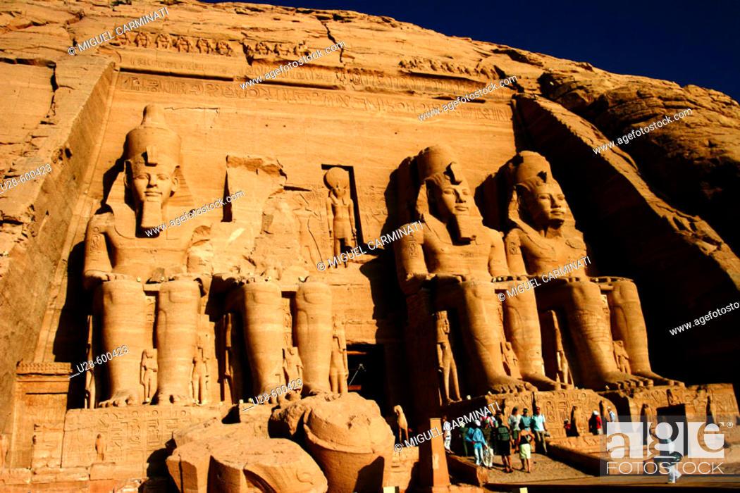 Stock Photo: Abu Simbel. Egypt.