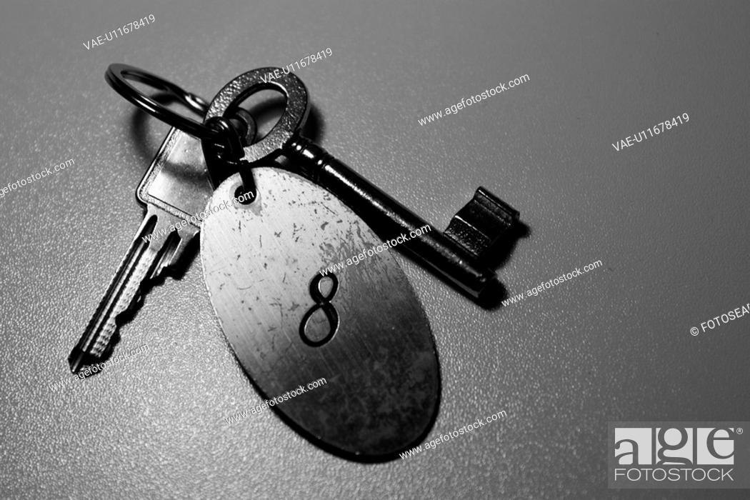 Stock Photo: B&W, Black & White, bw, key, object, objects.