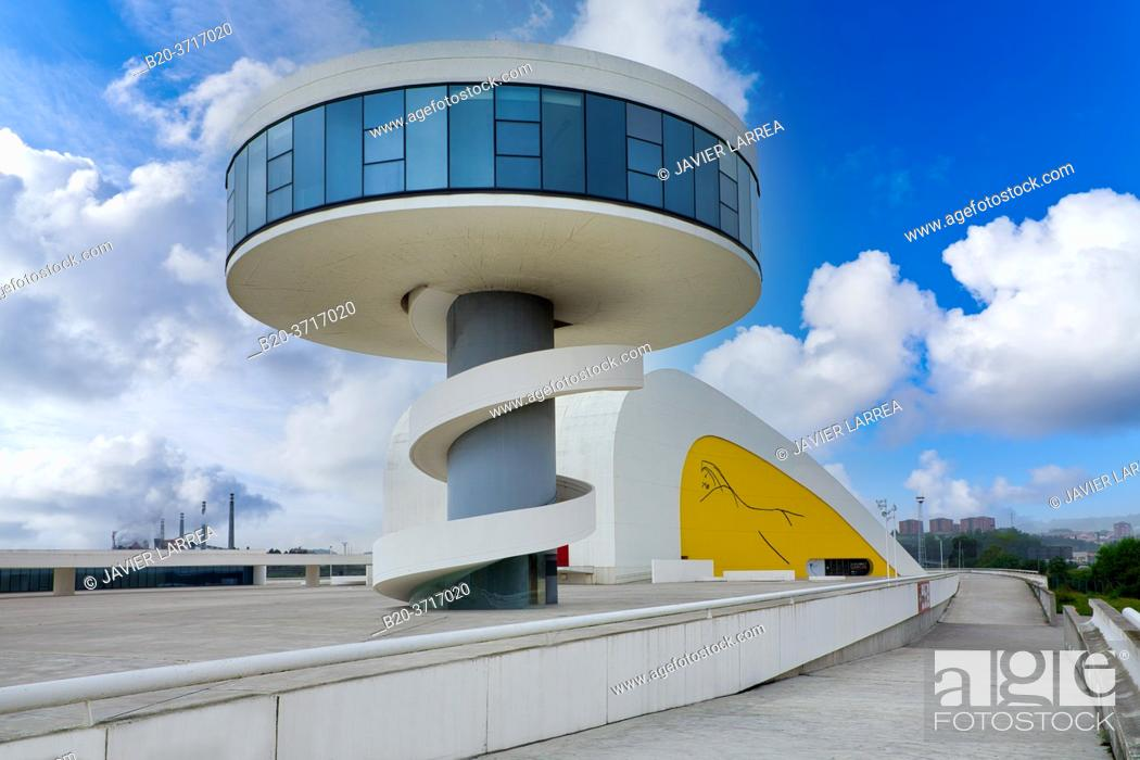 Stock Photo: Oscar Niemeyer International Cultural Centre, Avilés, Asturias, Spain, Europe.