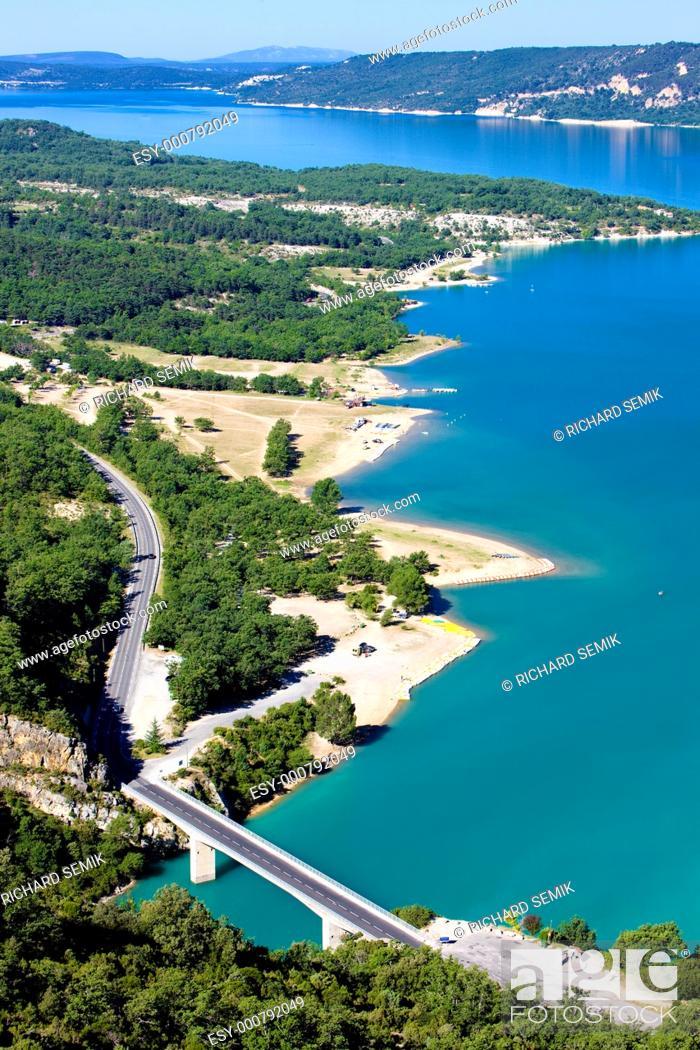 Stock Photo: St Croix Lake, Les Gorges du Verdon, Provence, France.