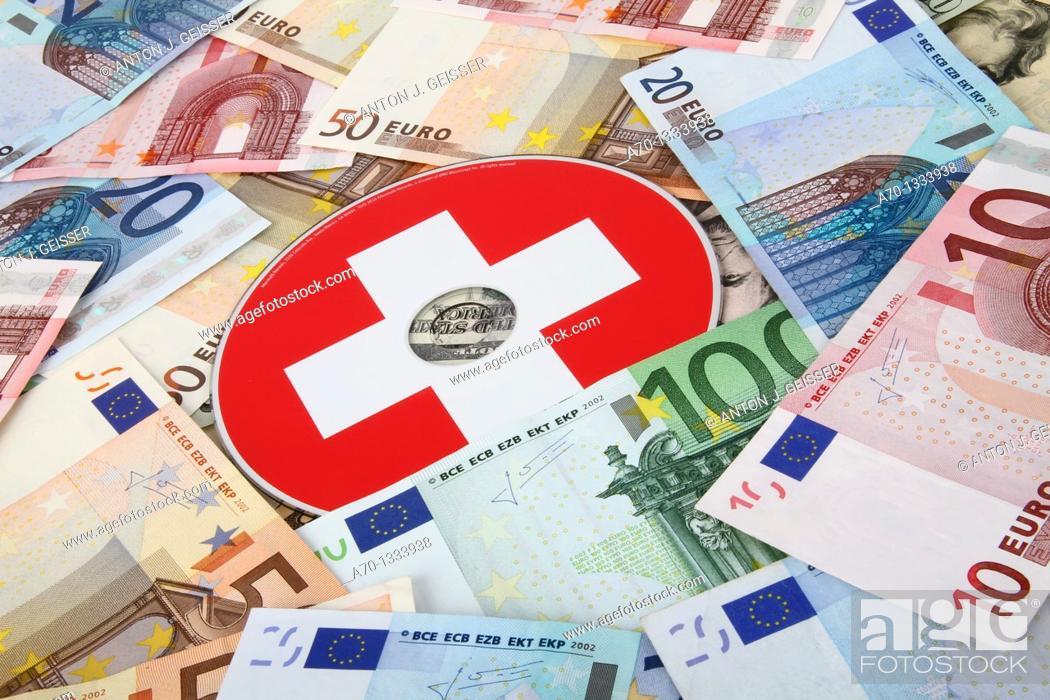 Stock Photo: Symbolic , euro bank notes , cd.