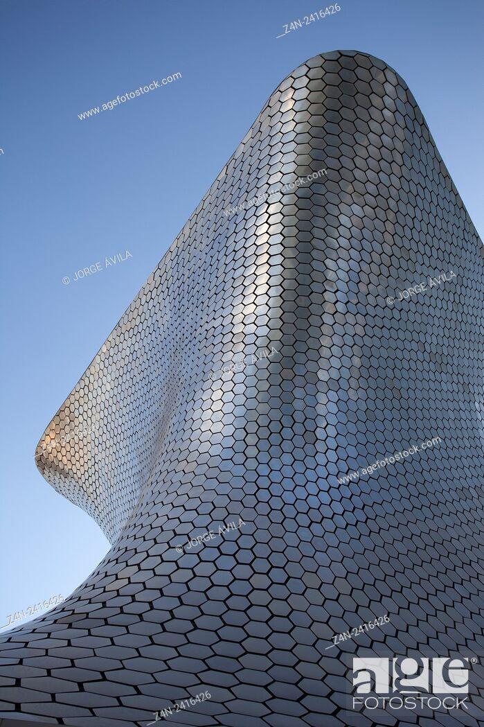 Stock Photo: Soumaya museum, Plaza Carso, Mexico city.