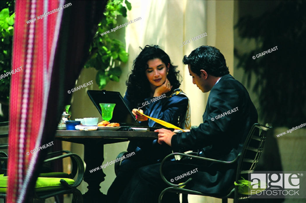 Stock Photo: Arab business meeting.