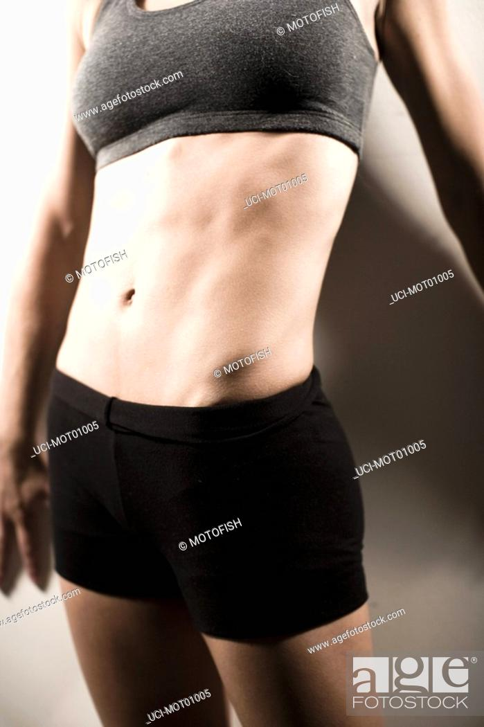 Stock Photo: Woman wearing athletic gear.