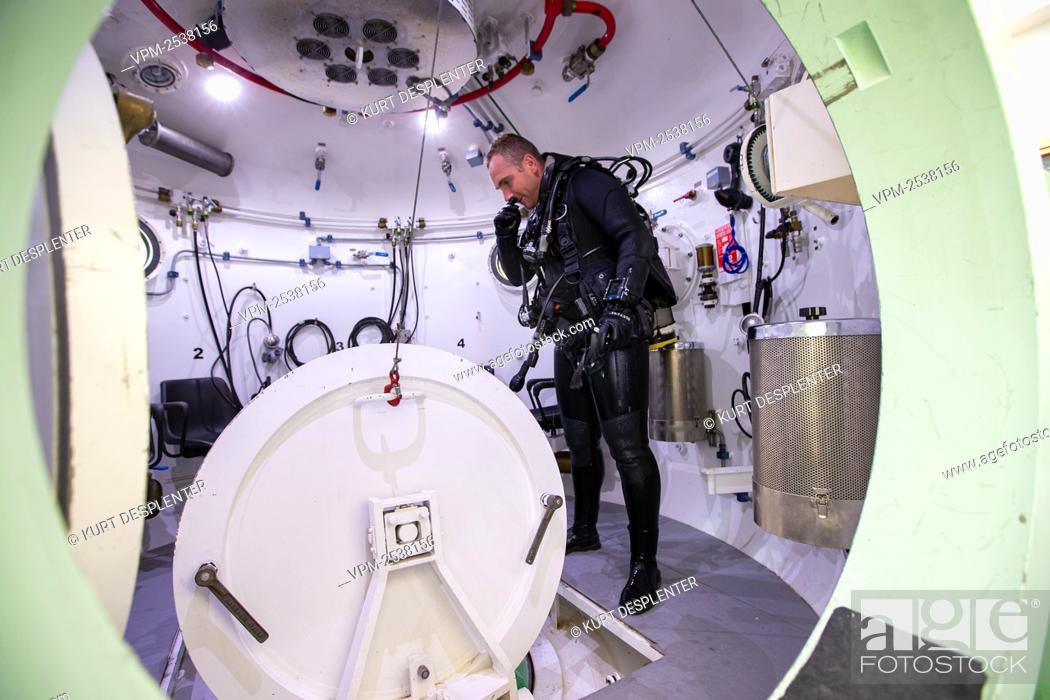 Stock Photo: Illustration shows the military diving school at the Zeebrugge naval base, Friday 04 September 2020. BELGA PHOTO KURT DESPLENTER.