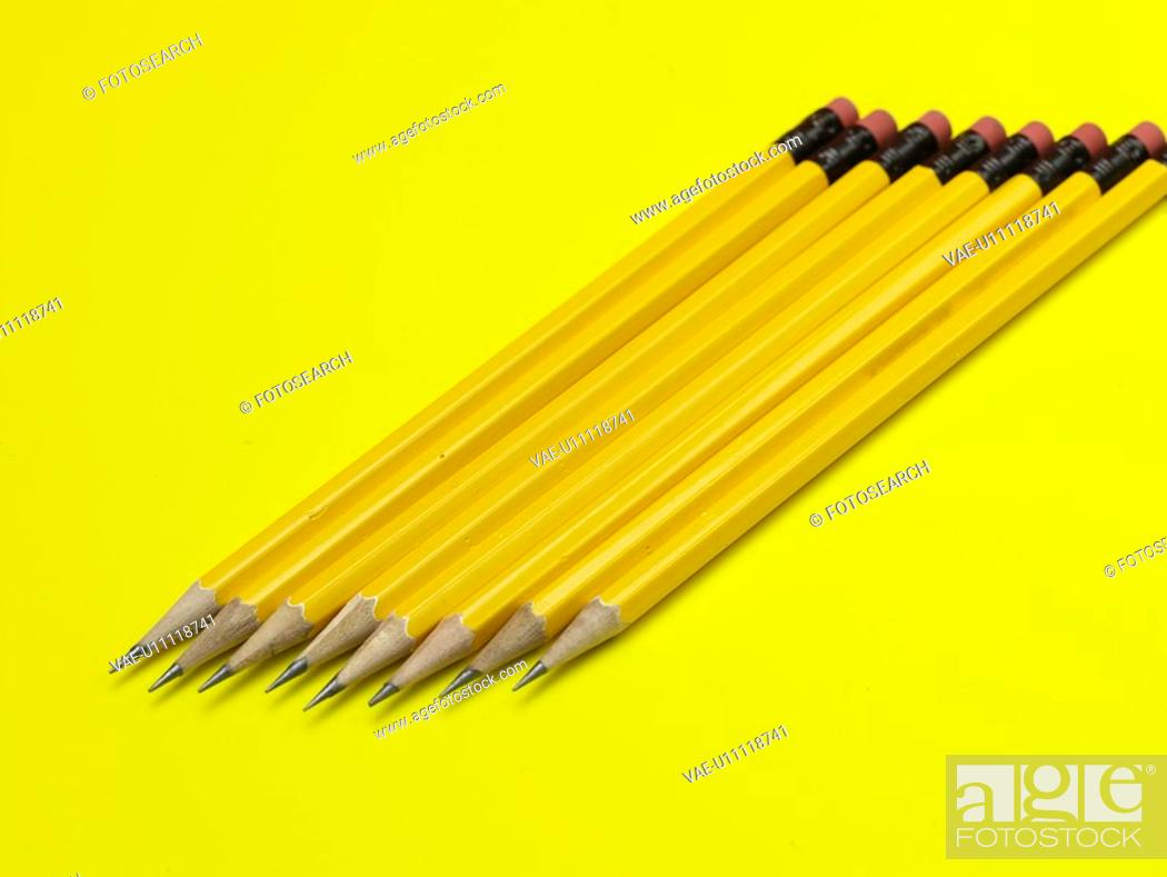 Stock Photo: pencil, business supplies, writing instrument, school stationery, stationery, business, artifact.