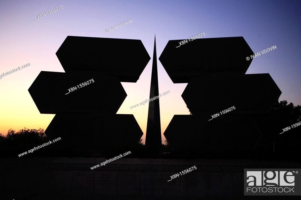 Stock Photo: Yad vashem Holocaust memorial, Jerusalem, Israel.