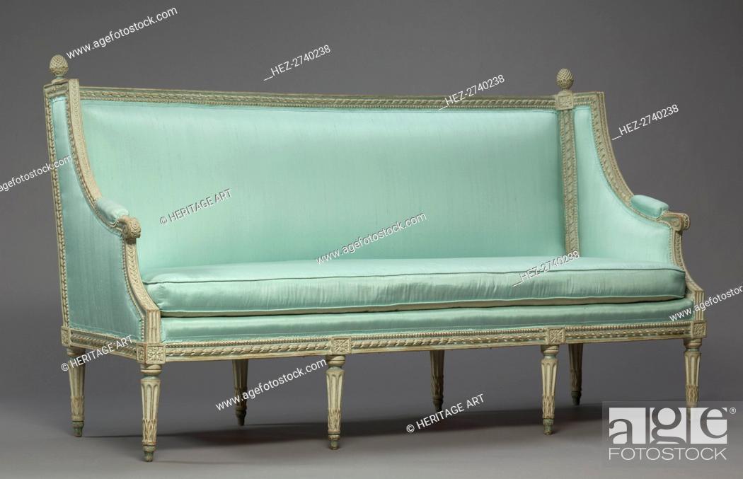 Stock Photo: Settee, c. 1780. Creator: Philippe-Joseph Pluvinet (French, 1793).