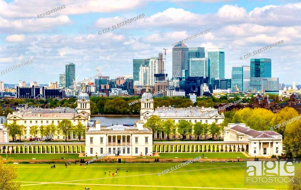 Imagen: View of Canary Wharf from Greenwich - London, England.