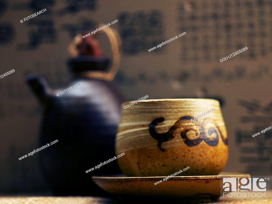 Stock Photo: drink, ceramic cup, beverage, cuisine, food, tea-things.