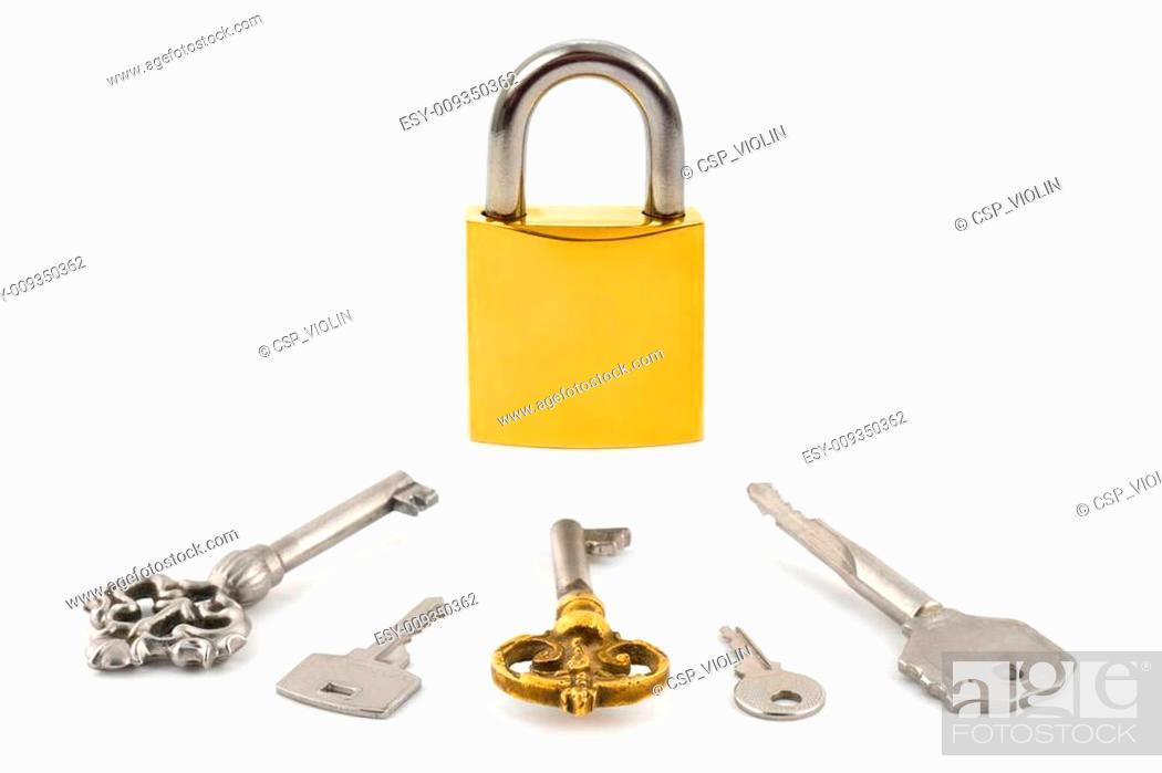 Photo de stock: Lock and keys.