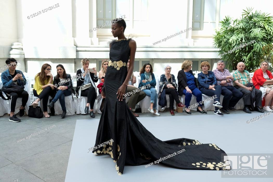 Noemi Vallone Show During The Madrid Bridal Week At Palacio