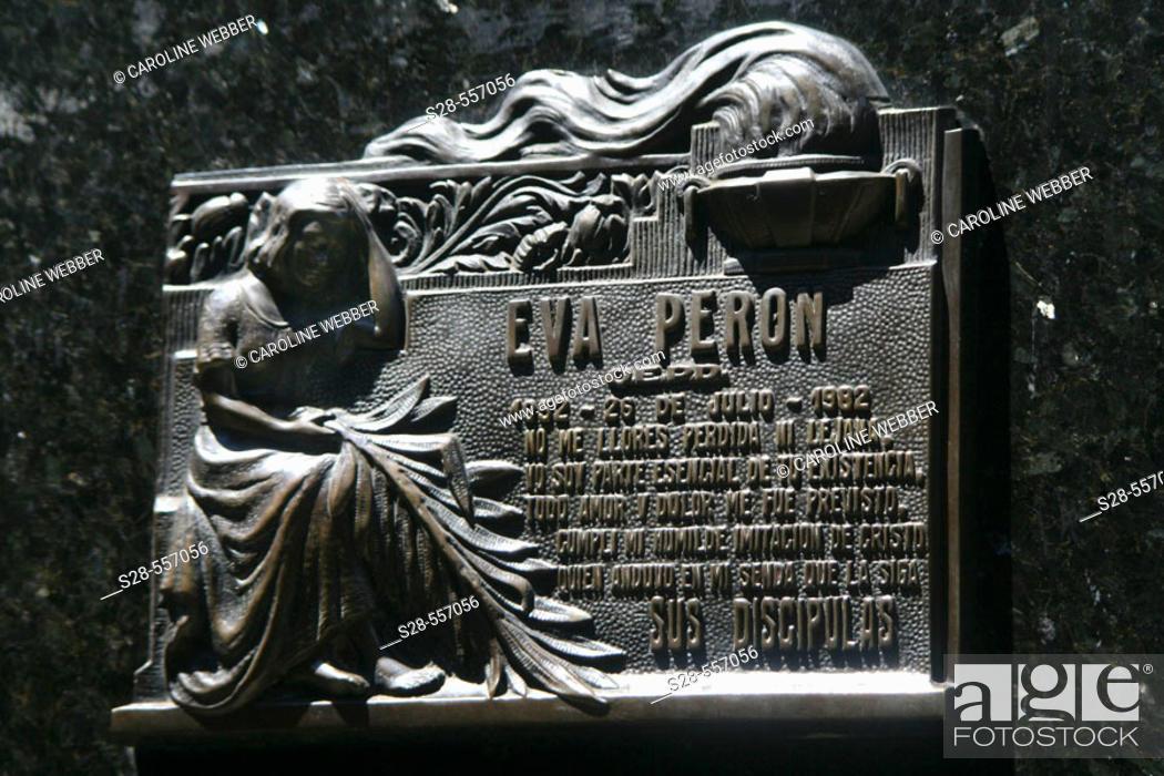 Stock Photo: Eva Peron's gravesite memorial.