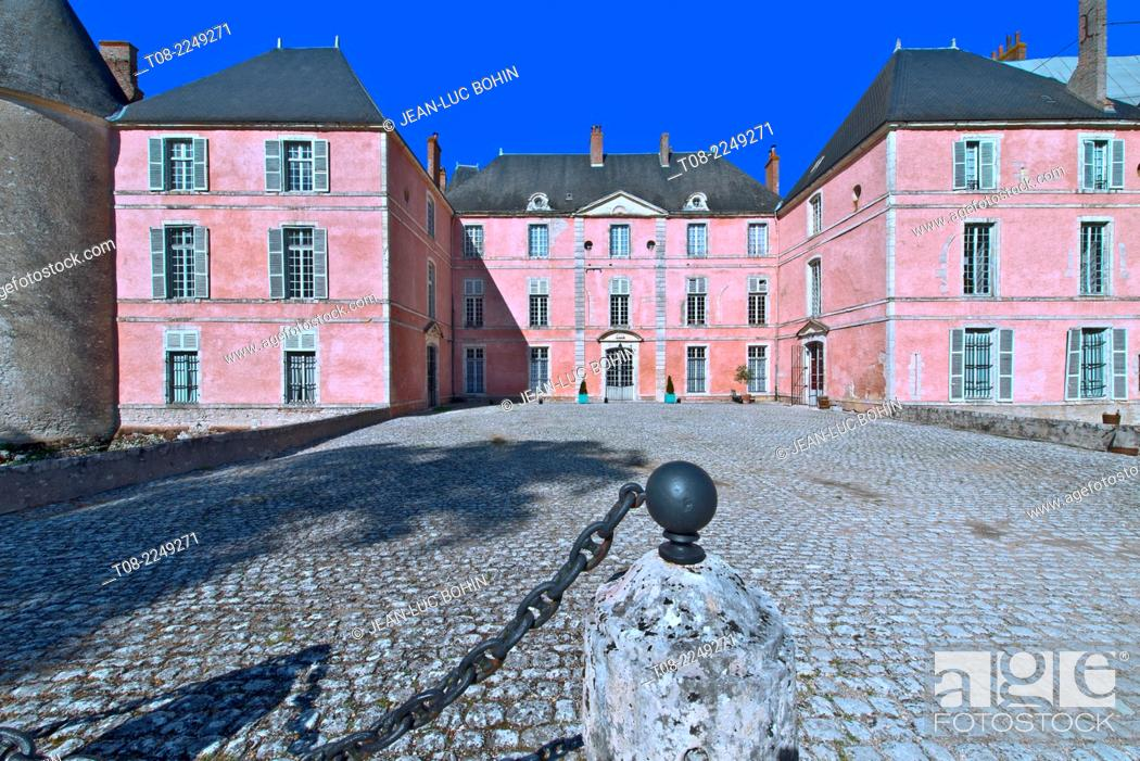 Stock Photo: france, loire castles : meung castle, south outside.