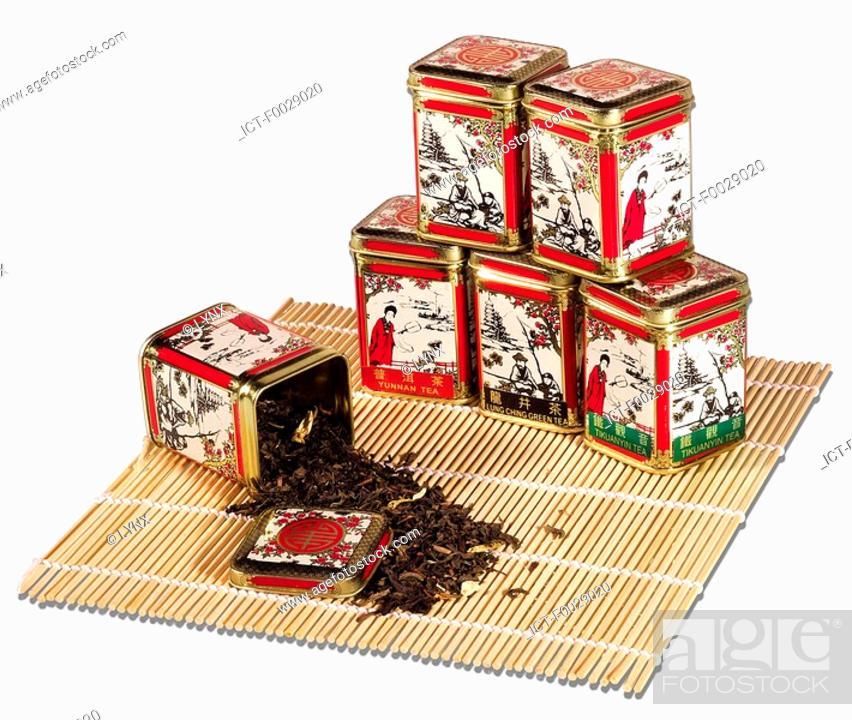 Stock Photo: World symbols: Tea Boxes China.