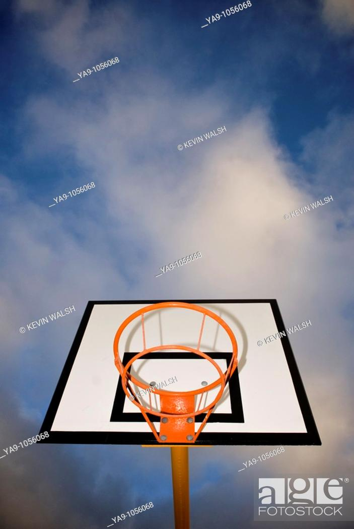 Stock Photo: Basketball hoop.