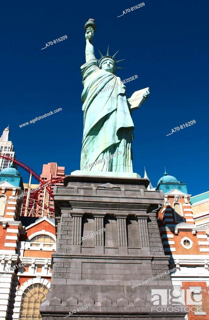 Stock Photo: Las Vegas Casino New York New York mit Statue Liberty  Las Vegas. Nevada. USA.