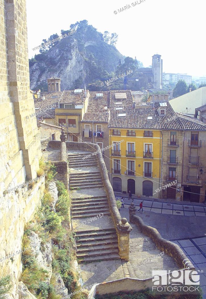 Stock Photo: Old town. Estella, Navarra, Spain.