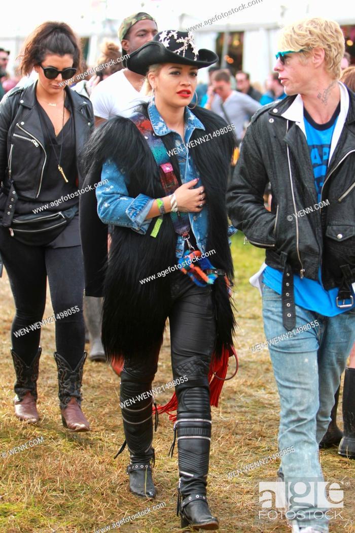 Stock Photo: Glastonbury Festival 2014 - Celebrity sightings and atmosphere - Day 2 Featuring: Rita Ora Where: Glastonbury, United Kingdom When: 27 Jun 2014 Credit: WENN.