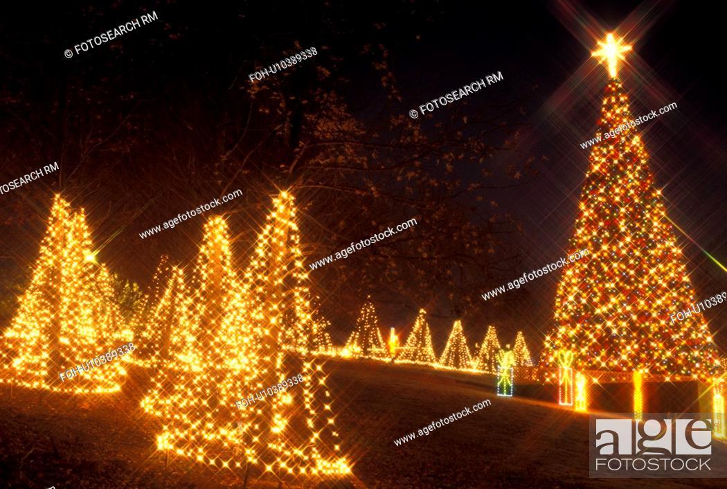 Stock Photo - Christmas decoration, Marietta, GA, Georgia, Atlanta, Lights  of Life Christmas light display of Christmas trees and presents at Life  College ... - Christmas Decoration, Marietta, GA, Georgia, Atlanta, Lights Of Life