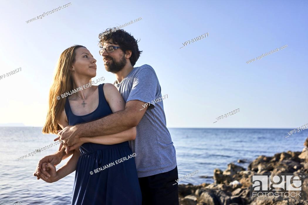 Stock Photo: Greece, Crete, Hersonissos, couple.