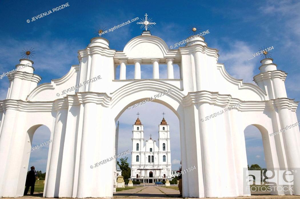 Stock Photo: Aglona Basilica, Aglona. Latgalia, Latvia.