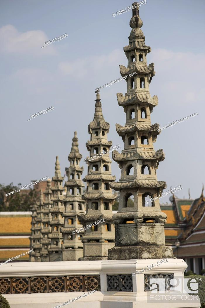 Stock Photo: Wat Suthat temple in Bangkok , Thailand.