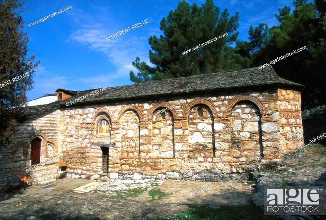 Stock Photo: Greece - Epirus - Ioannina - Hagios Nikolaos Philantropinos Monastery.