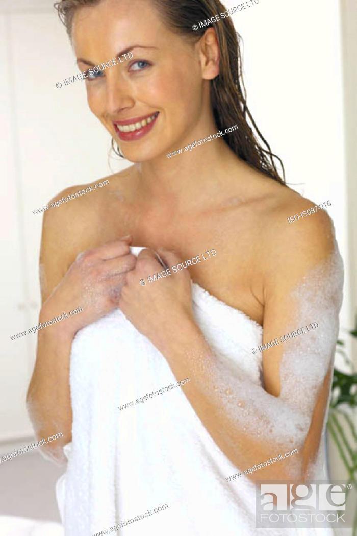 Stock Photo: Woman smiling.