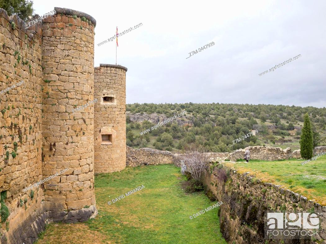Stock Photo: Castillo de Pedraza. Conjunto histórico. Segovia province. Castile-Leon. Spain.