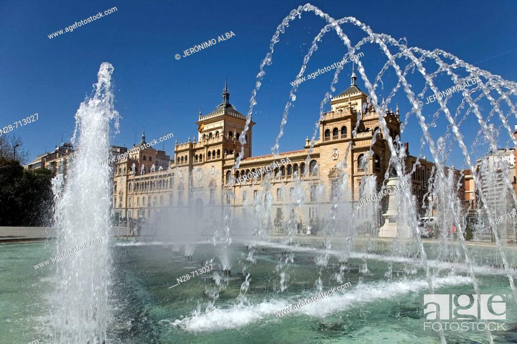 Stock Photo: Spain, Castilla Leon, Valladolid, Plaza Zorrilla, Academia de Caballeria.