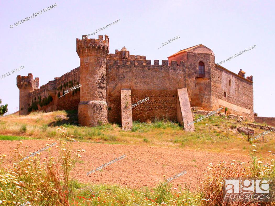 Stock Photo: Marchenilla Castle. Sevilla province. Spain.