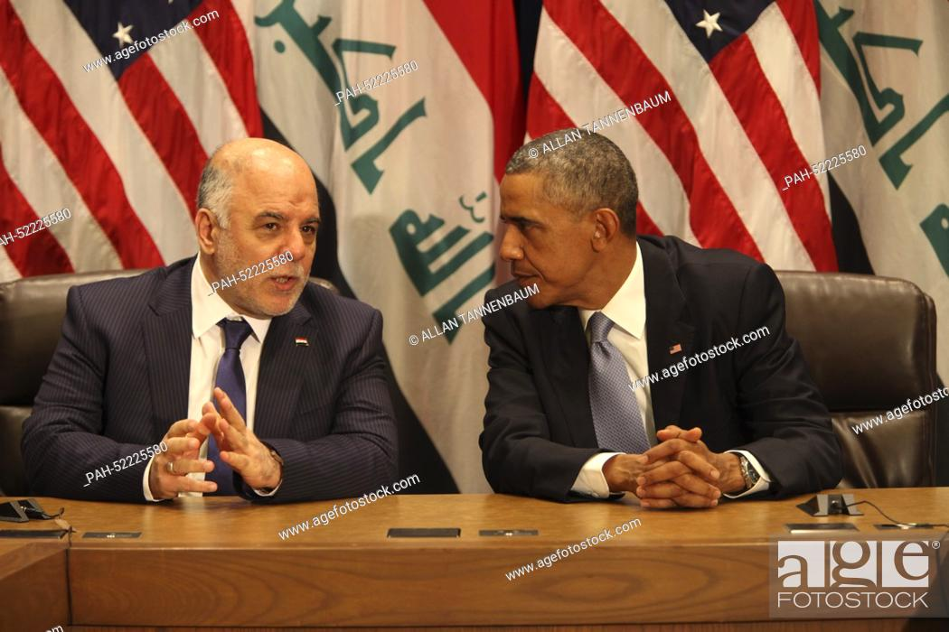 Imagen: United States President Barack Obama holds a bilateral meeting with Prime Minister Haider al-Abadi of the Republic of Iraq at Un Headquarters in New York.