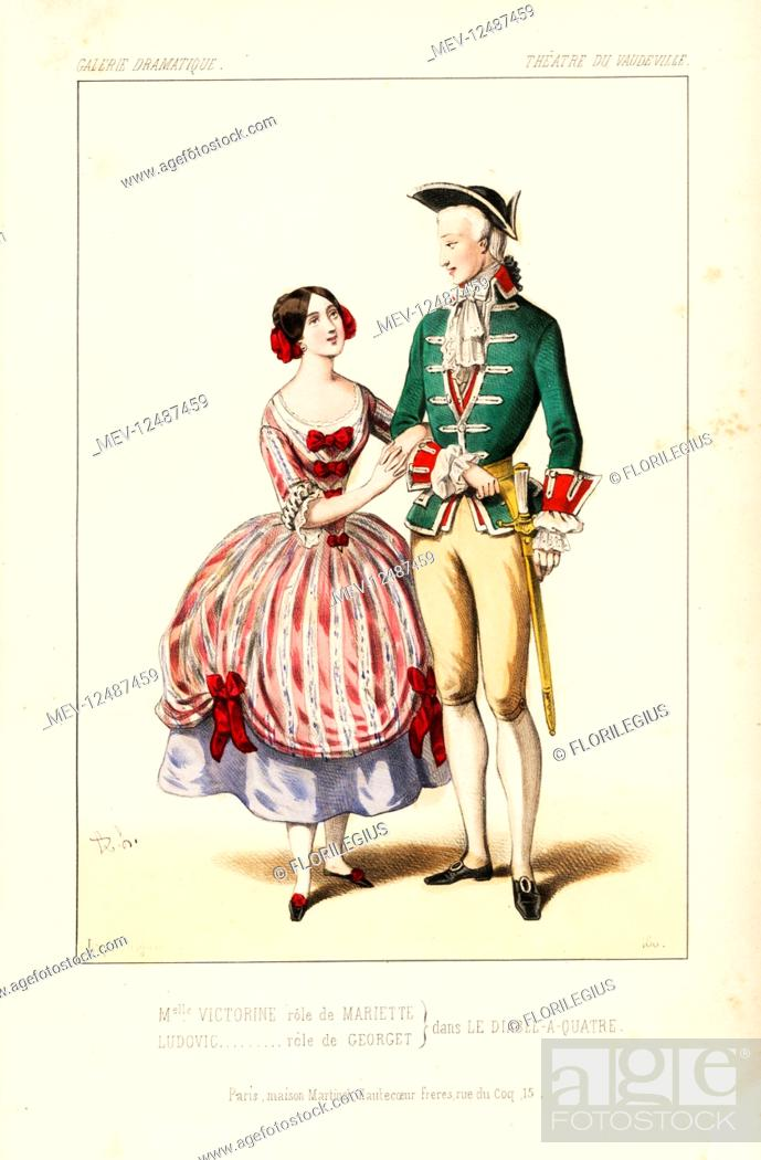 Mlle Victorine As Mariette And Ludovic As Georget In Le Diable A Quatre By Delaporte Stock Photo Picture And Rights Managed Image Pic Mev 12487459 Agefotostock