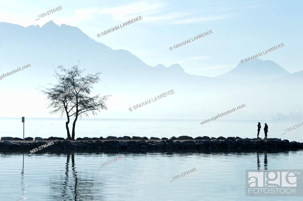 Stock Photo: Lake Annecy, Savoie, France, Europe.