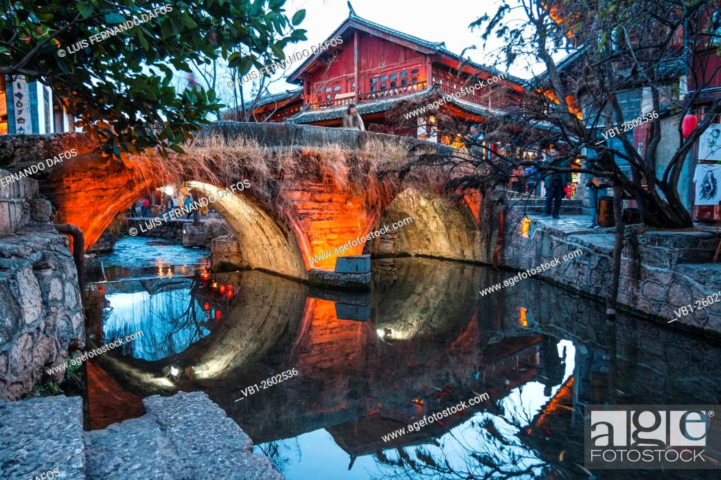 Stock Photo: Lijiang old town, Yunnan, China.