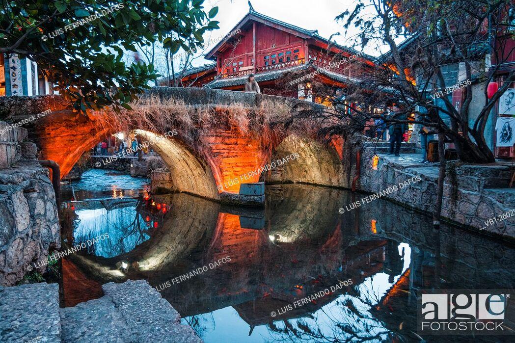 Photo de stock: Lijiang old town, Yunnan, China.