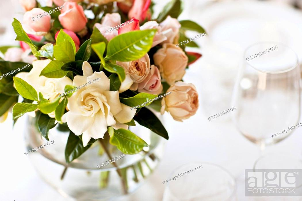 Stock Photo: Close up of bridal bouquet.