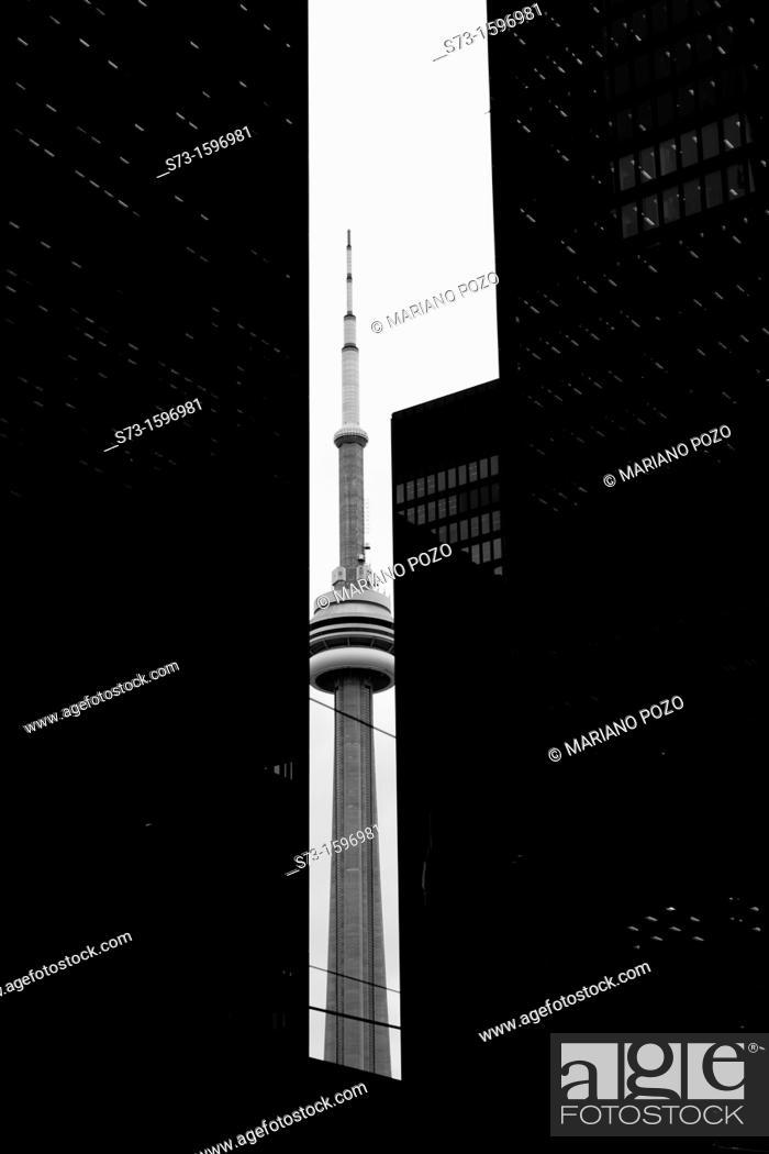 Stock Photo: CN Tower in Toronto, Ontario, Canada.