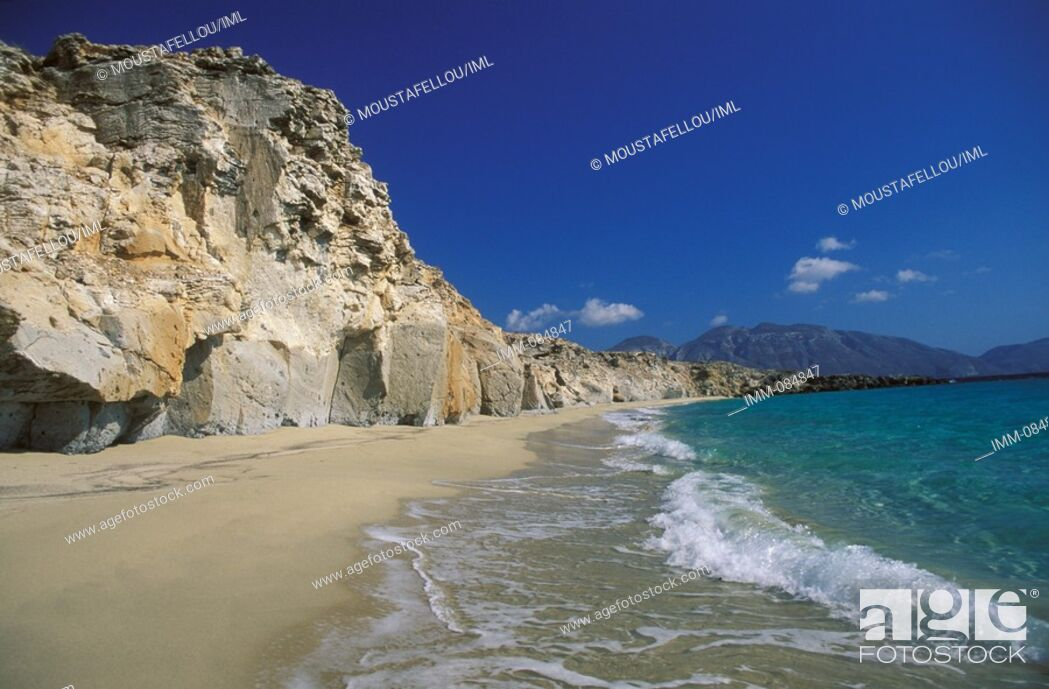 Stock Photo: Dodecanese, Kassos Armathia islet Marmara beach.
