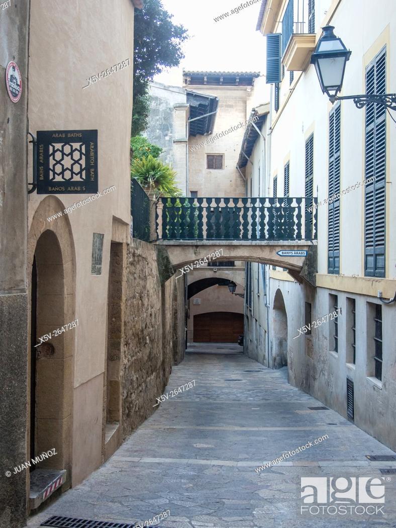 Stock Photo: Arab baths. Old Town. Flame of Mallorca. Balearic Islands. Spain.