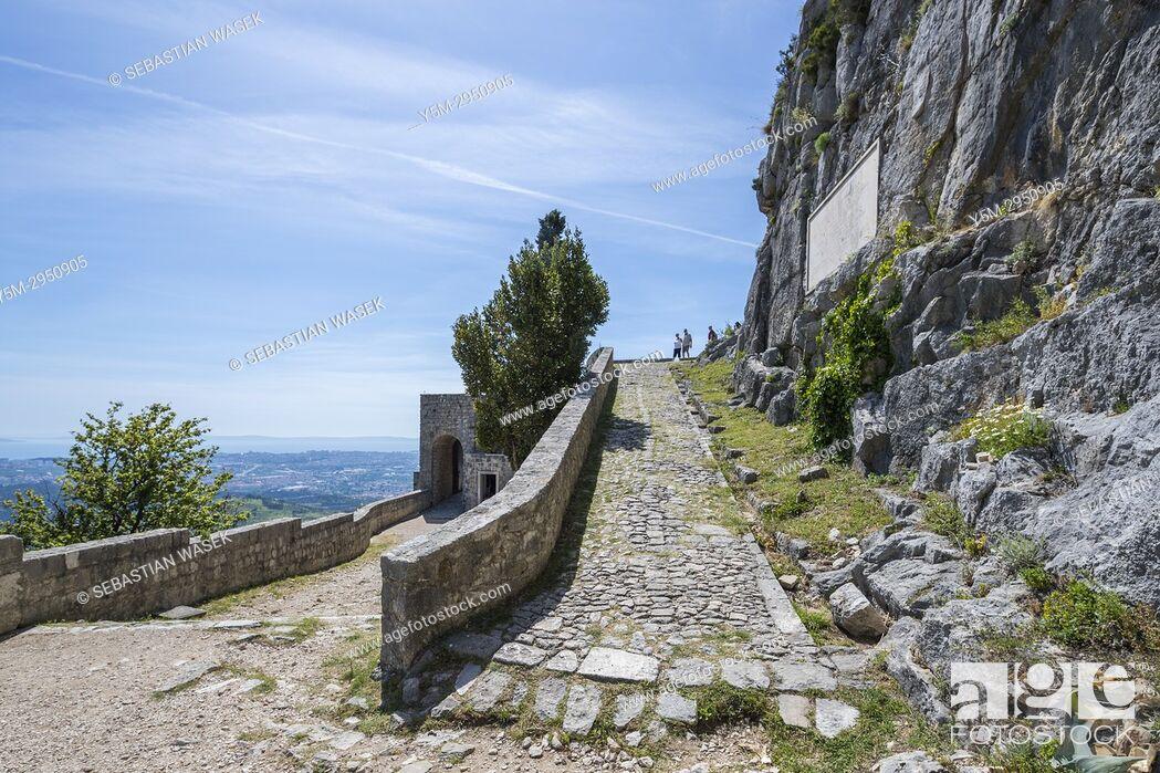 Stock Photo: Klis Fortress, Splitsko-Dalmatinska, Dalmatia, Croatia, Europe.