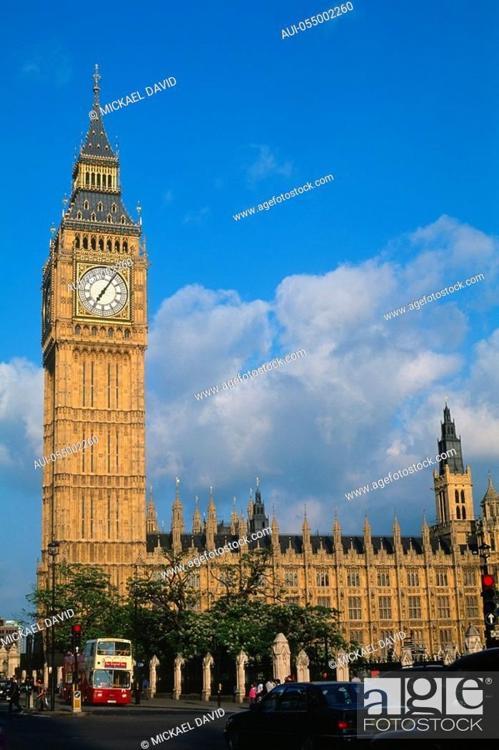 Stock Photo: England - London - District of Westminster - Big Ben.