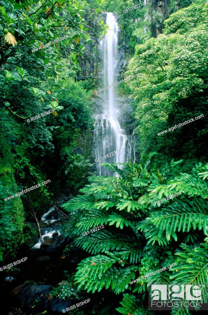 Stock Photo: Wailua falls. Maui Island. Hawaii. USA.