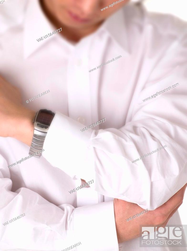 Stock Photo: shirts, wrist watch, elbow, 20-30 something, formal shirts.