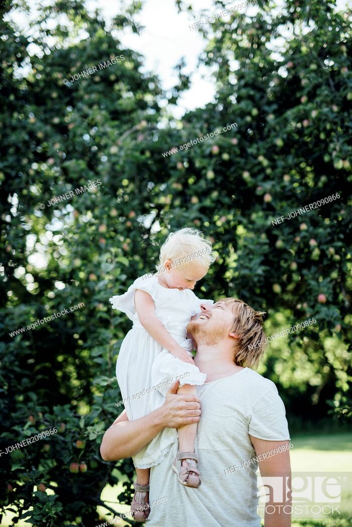Stock Photo: Father with daughter.